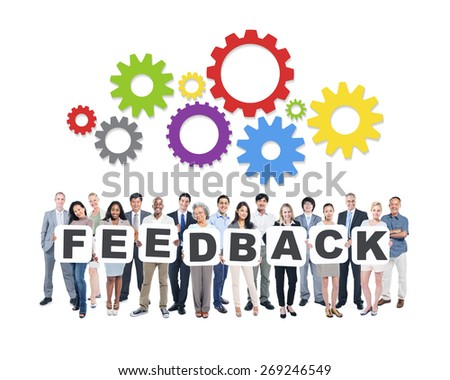 Feedback Business People Team Teamwork Success Strategy Concept - stock photo