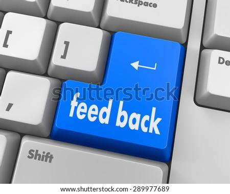 Feedback button on keyboard - stock photo