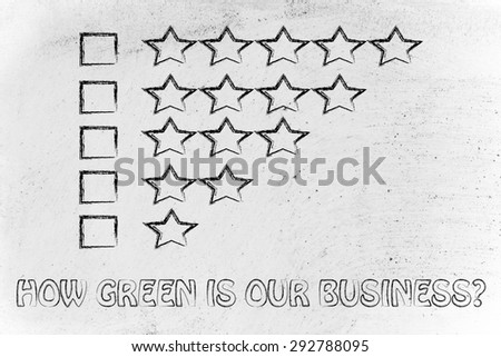 feedback chart with stars to evaluate the corporate social responsibility performance of a business