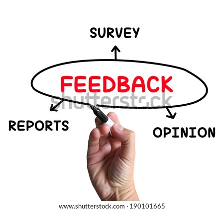 Feedback Diagram Meaning Reports Criticism And Evaluation - stock photo