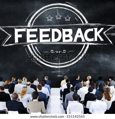 Feedback Evaluation Reflection Response Result Concept - stock photo