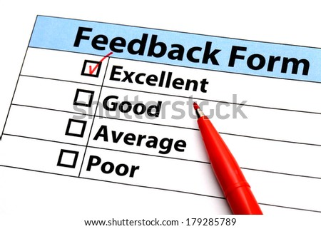 Feedback form - stock photo