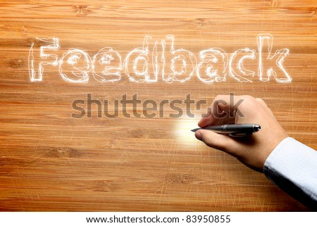 Feedback process - stock photo