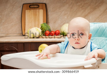 Feeding baby. - stock photo