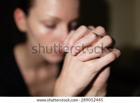 Feeling desperate.  - stock photo