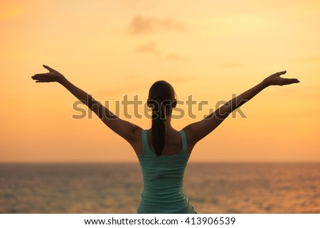 Feeling free! - stock photo