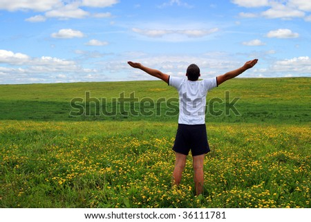Feeling freedom - stock photo