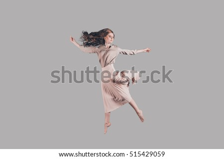 stock photo feeling freedom of every move studio shot of attractive young woman hovering in air 515429059 woman levitating stock images, royalty free images & vectors  at bayanpartner.co