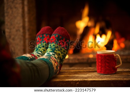Christmas Fireplace Stock Images Royalty Free Images Vectors