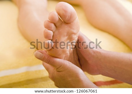 Feet massage - stock photo