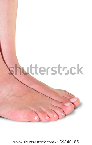 feet of woman, front view     - stock photo