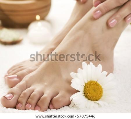 Feet Spa.Pedicure - stock photo
