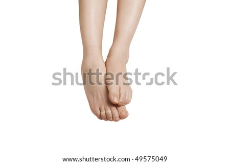 Feet, with clipping path - stock photo