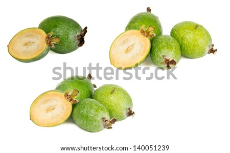 feijoa isolated on white background