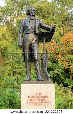 Felix Mendelsohn Bartholdy Monument in Dusseldorf - stock photo
