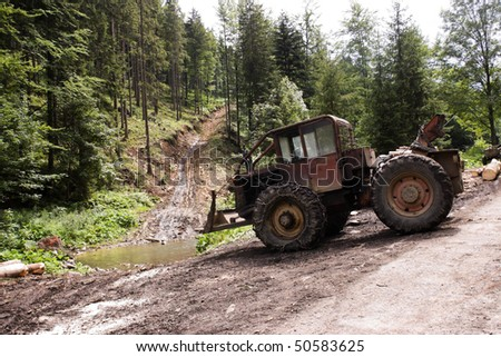 felling - stock photo
