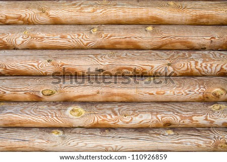 Felling of timber in the background - stock photo