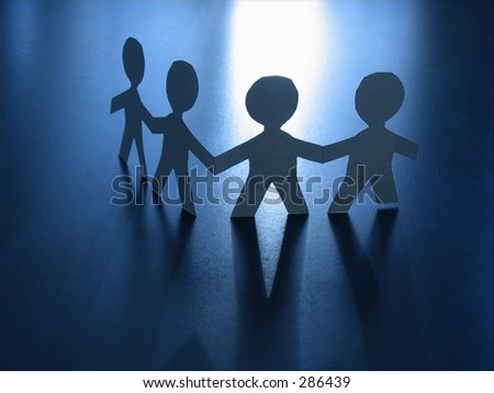 Fellowship -teamwork - stock photo