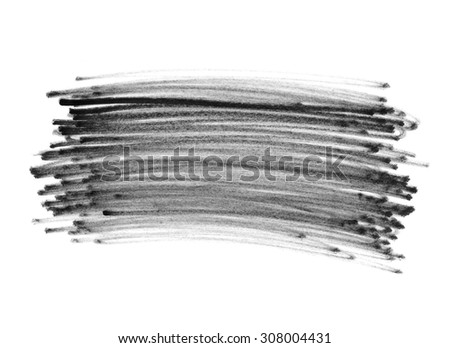 Felt pen doodle scribbles isolated on white background - stock photo