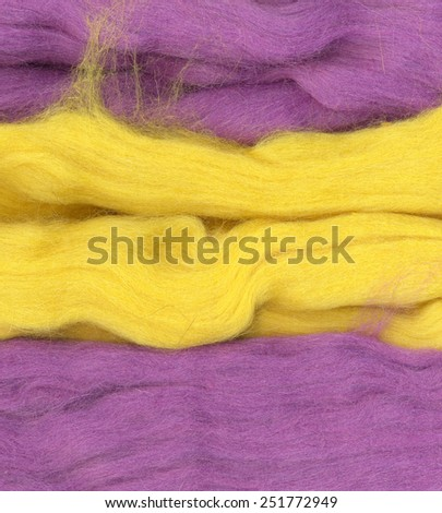 Felt wool. Abstract textured background. Dark pink, purple, violet and yellow colors.  Woolen  - stock photo