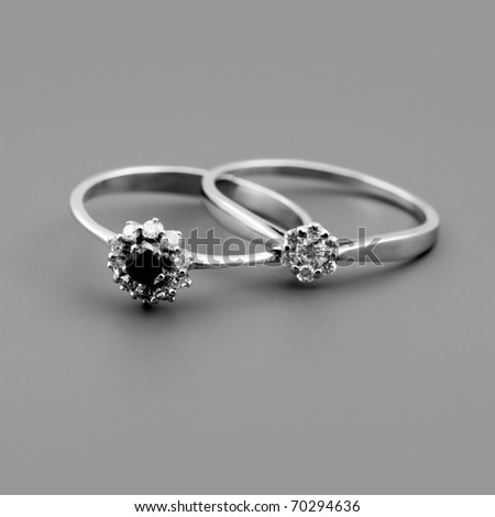 Female accessories - two brillants rings