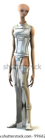 Female Alien - stock photo