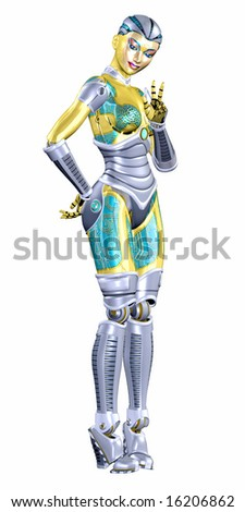 Female Android - stock photo