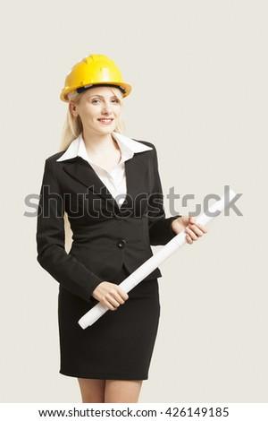Female architect - stock photo