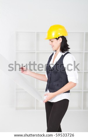 female architect in office - stock photo