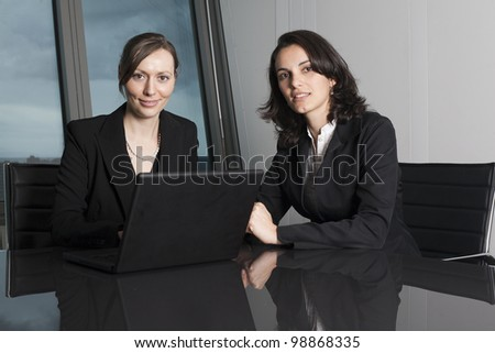 Female Attorneys at Law Firm - stock photo