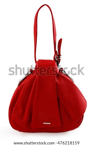 female bag on a white background