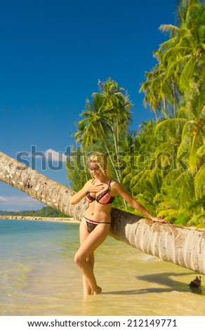 Female Beauty Hot Blonde  - stock photo