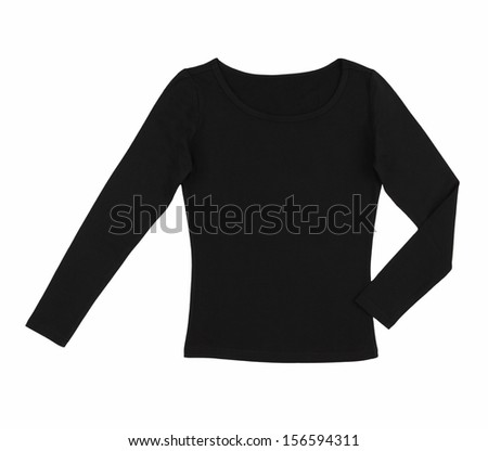 female blouse isolated on white  background - stock photo