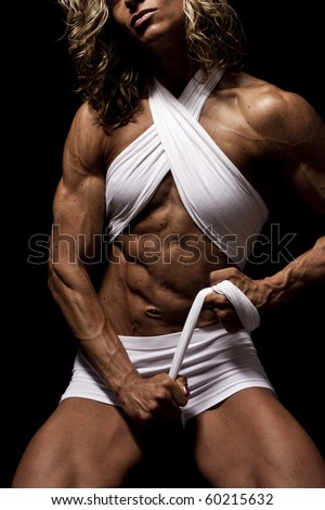 Female Body Builder - stock photo