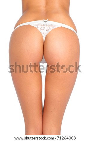 Female body. Isolated over white background
