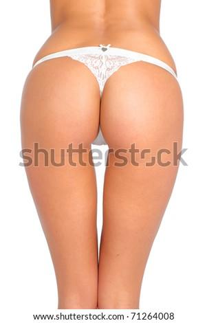 Female body. Isolated over white background - stock photo