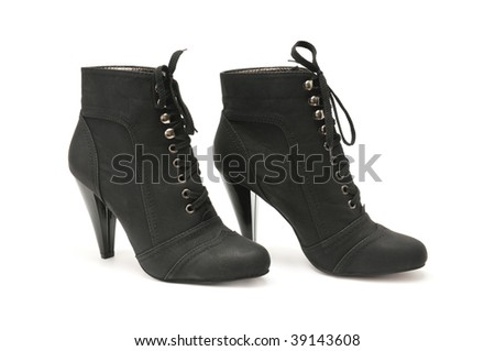 Female boot isolated on a white background