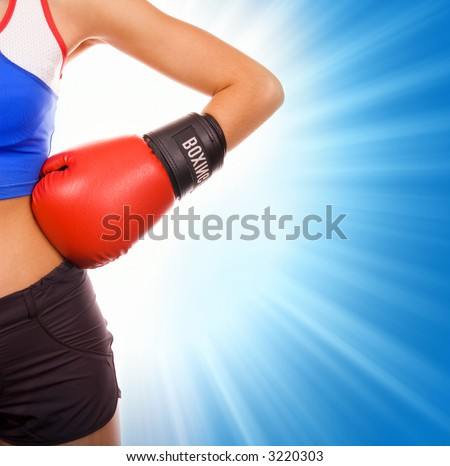 Female boxer - stock photo