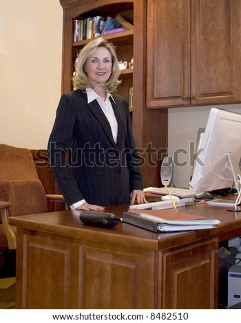 Female business executive in her office - stock photo