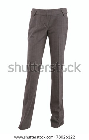 Female checkered pants isolated on white - stock photo