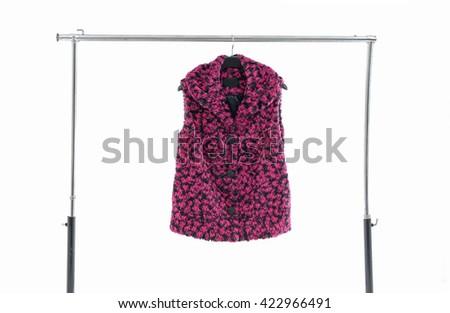 Female clothing on hanging  - stock photo