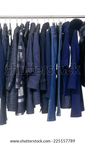 female coat clothing on display  - stock photo