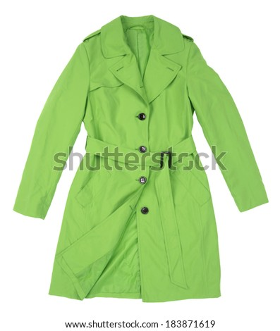 female coat isolated on white background