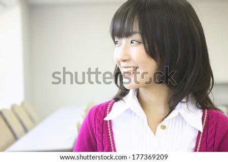 Female college student image - stock photo