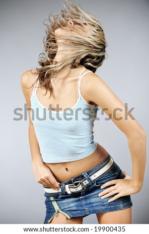 Female dancing - stock photo