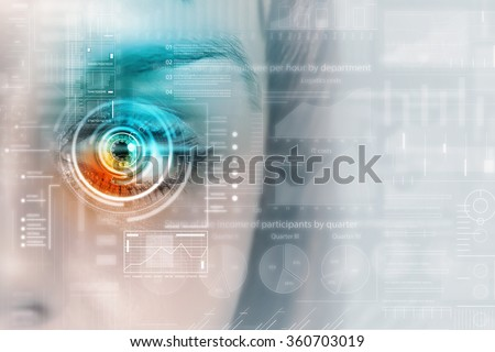 Female digital eye