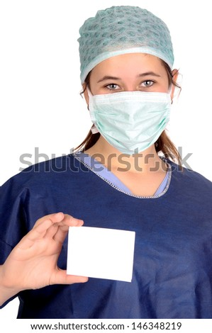female doctor isolated in white