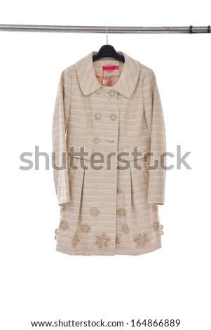 female dress isolated on hanging - stock photo