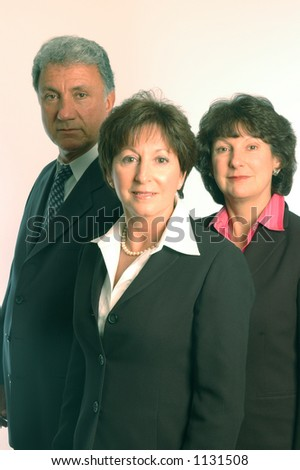 female executive and staff - stock photo