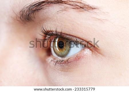 Female eye close-up  - stock photo